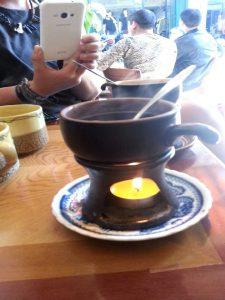 Värmeljusvärmd kaffekopp